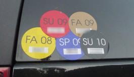 Parkeringsoblater / dobbeltsidige klistremerker